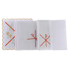 Altar linen PAX symbol red embroidery, cotton s2