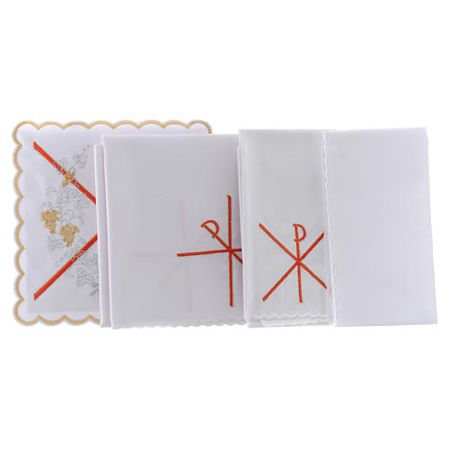 Altar linen PAX symbol red embroidery, cotton 2