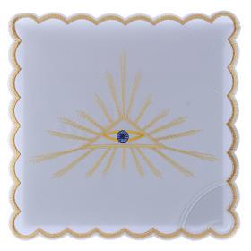 Servicio de altar algodón rayos dorados y Ojo de Dios s1