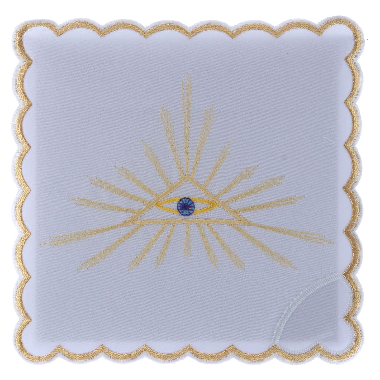 Servizio da altare cotone raggi dorati e Occhio di Dio 4