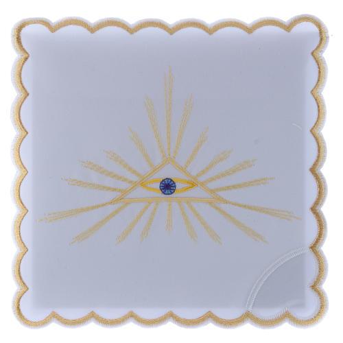Servizio da altare cotone raggi dorati e Occhio di Dio 1