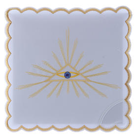 Altar linen set golden rays and Eye of God, cotton s1