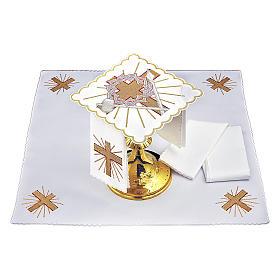 Linge autel coton croix lance couronne d'épines s2