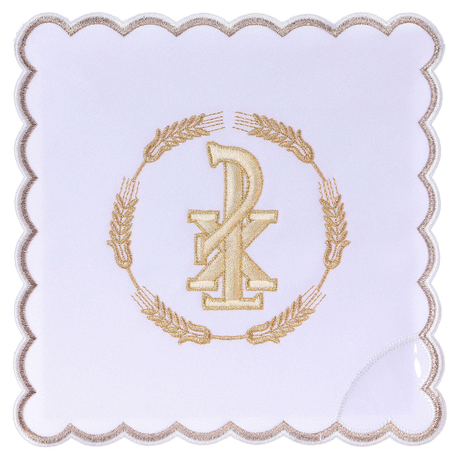Linge autel coton couronne de blé et symbole Chi-Rho 4