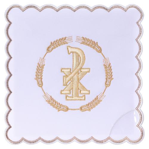 Linge autel coton couronne de blé et symbole Chi-Rho 1