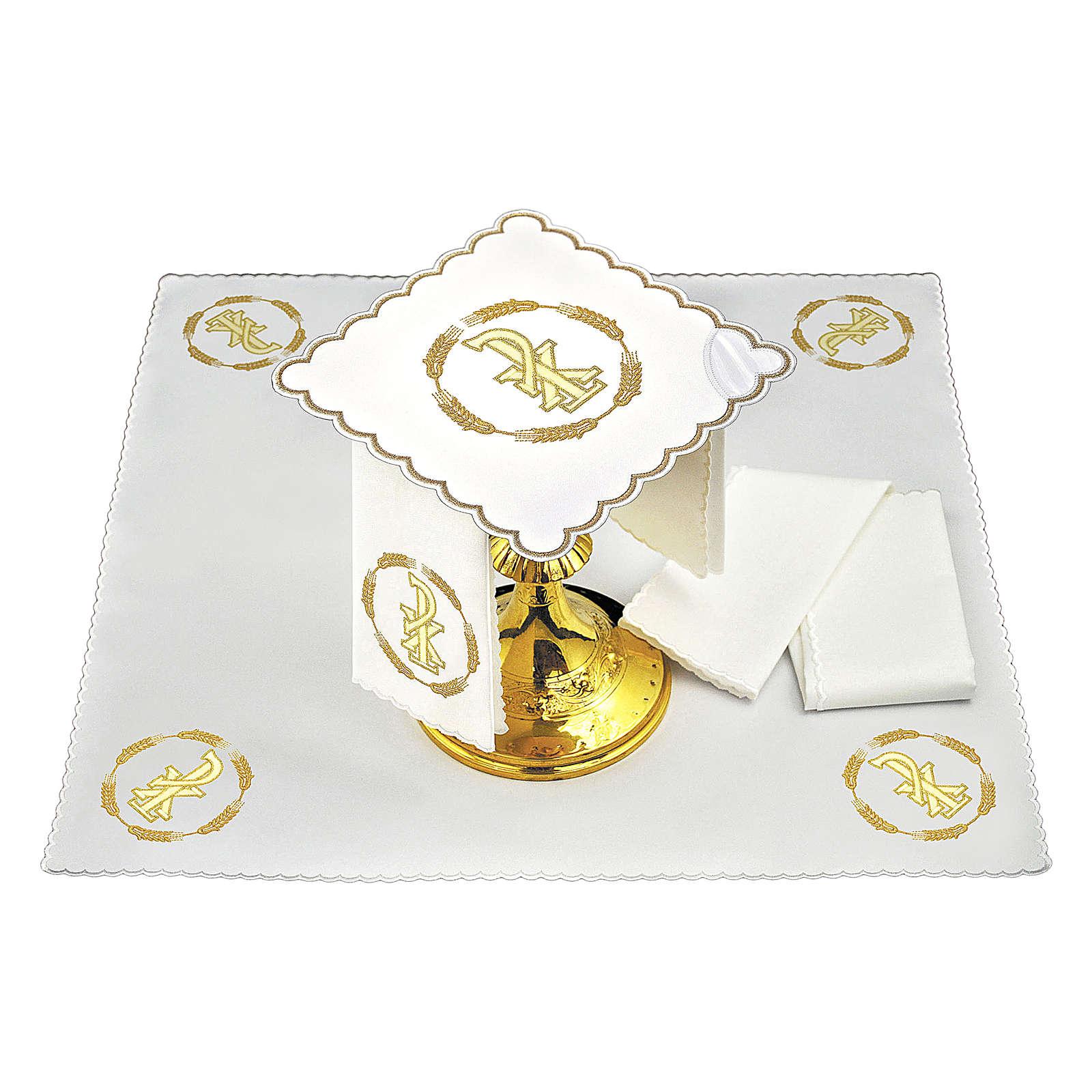Servizio da altare cotone cerchio di grano e simbolo PAX 4