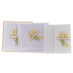 Linge autel coton épis jaunes et tiges vertes s2