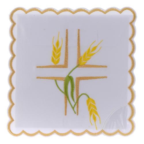 Linge autel coton épis jaunes et tiges vertes 1