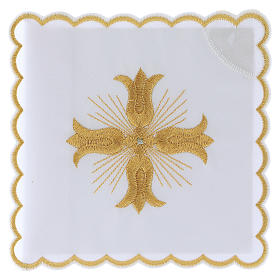 Altar cloths golden cross baroque style with rays, cotton s1