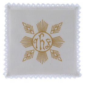 Servicio de altar hilo bordados dorados figuras geométricas símbolo JHS s1
