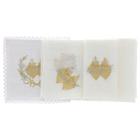 Altar cloth set with flowers and Sacred Heart of Jesus s2