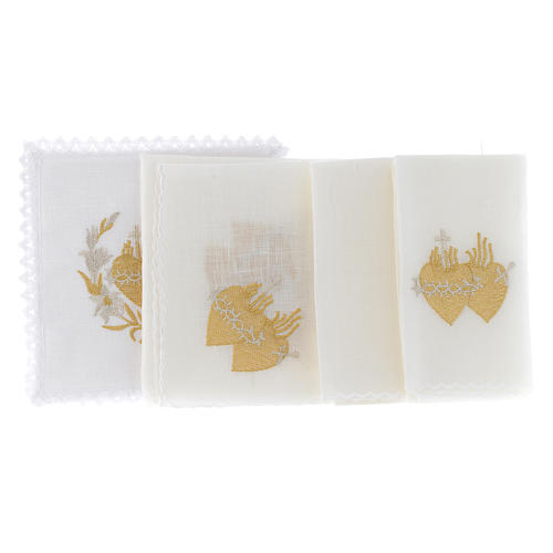 Wedding Altar Cloth: Altar Cloth Set With Flowers And Sacred Heart Of Jesus