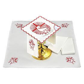 Servicio de altar hilo bordados rojos Agnus Dei s1