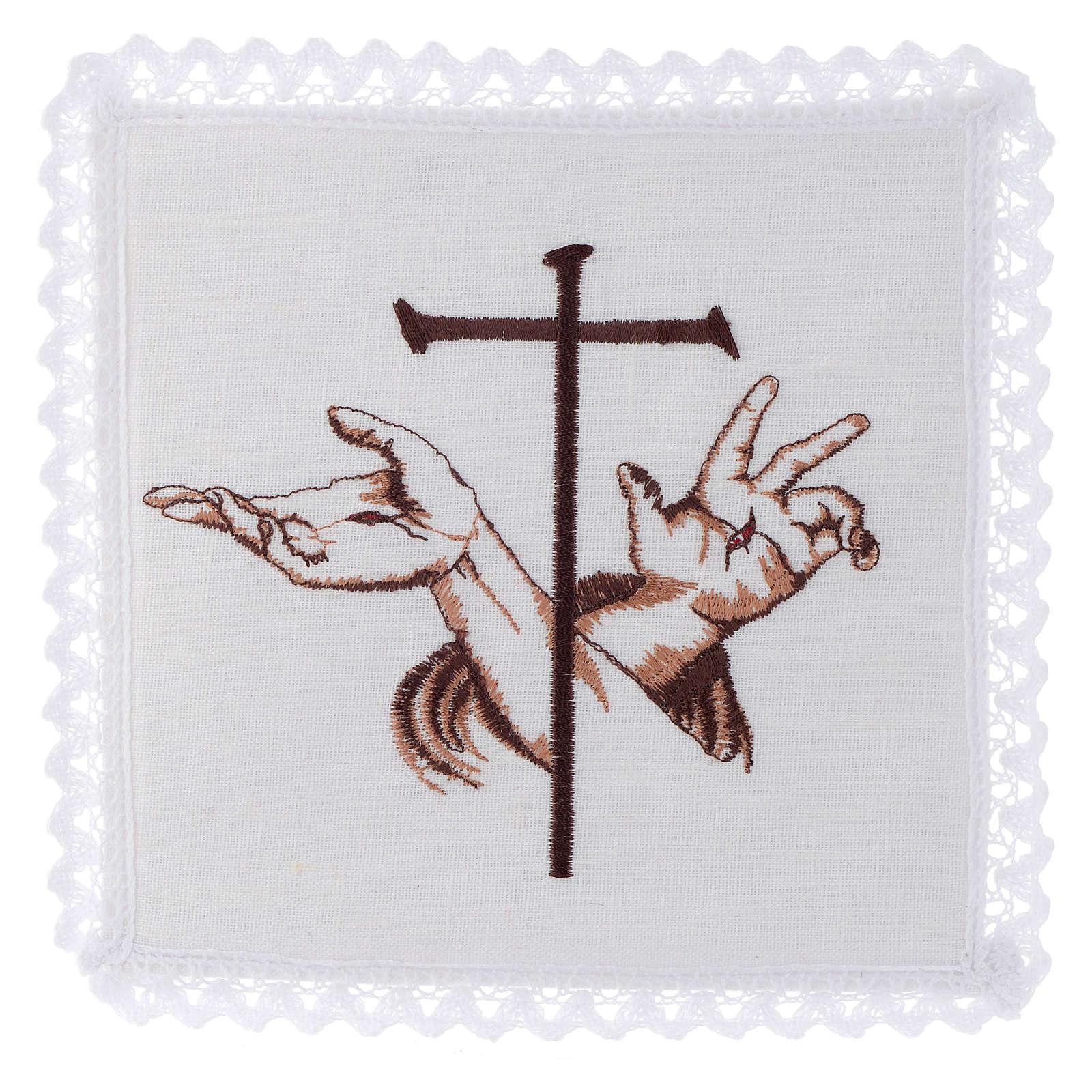 Altar linen Stigmata hands of Jesus & Cross 4