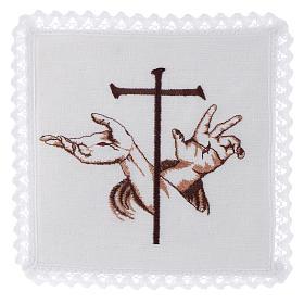 Altar linen Stigmata hands of Jesus & Cross s1