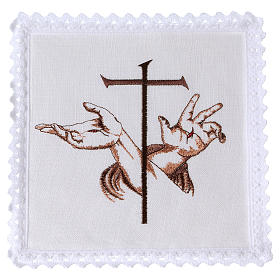 Altar linens with Stigmata hands of Jesus & Cross s1