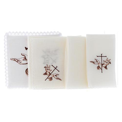 Altar linen Stigmata hands of Jesus & Cross 2