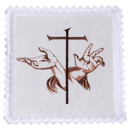 Altar linens with Stigmata hands of Jesus & Cross 1