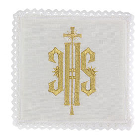 Altar linen set with JHS embroidery s1