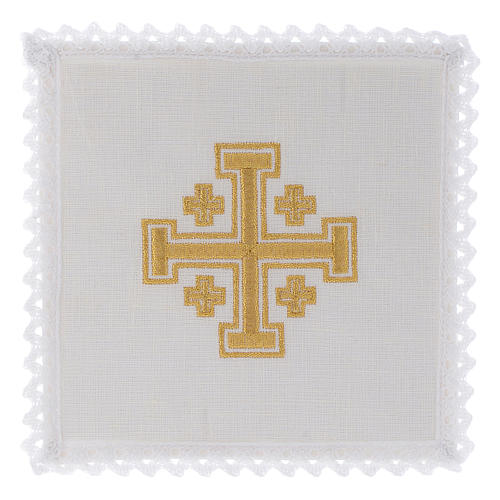 Bielizna kielichowa len krzyż jerozolimski 1