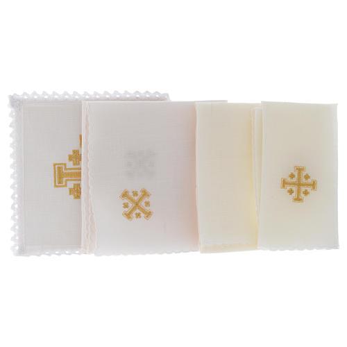 Bielizna kielichowa len krzyż jerozolimski 2