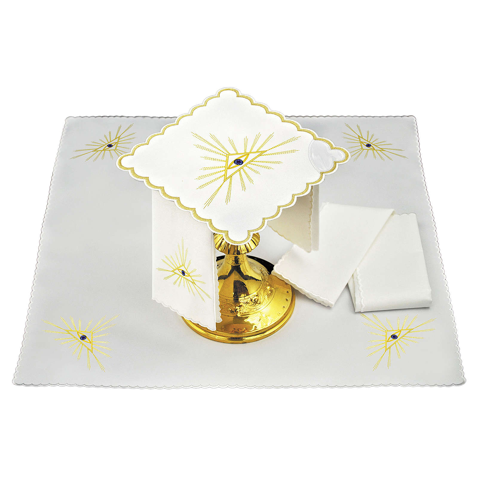 Altar cloths with golden rays and Eye of God 4