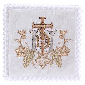 Conjuntos de Altar: Servicio de altar hilo racimos uva cruz bordado dorado