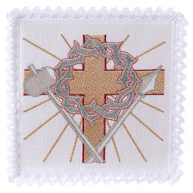 Conjunto altar linho cruz lança coroa de espinhas s1