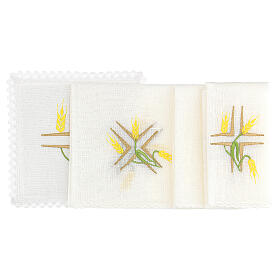 Church cloth set yellow wheat and green stem s2