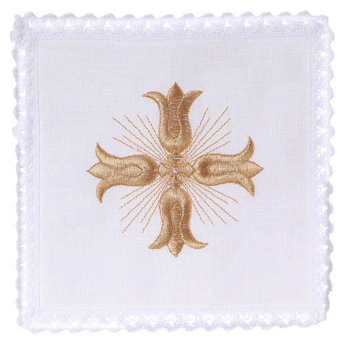 Altar linen golden cross baroque style with rays 1