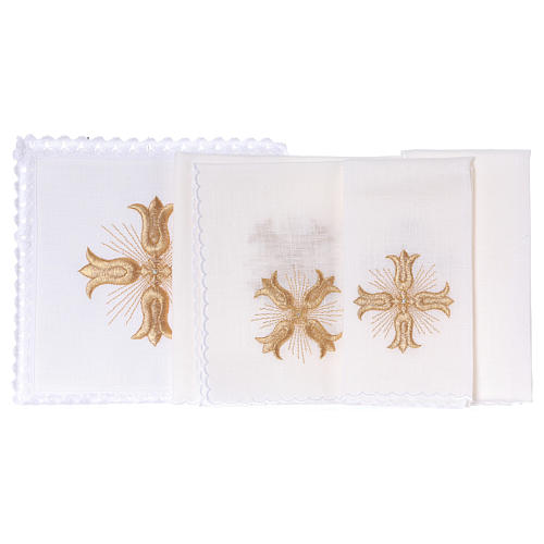 Altar linen golden cross baroque style with rays 2