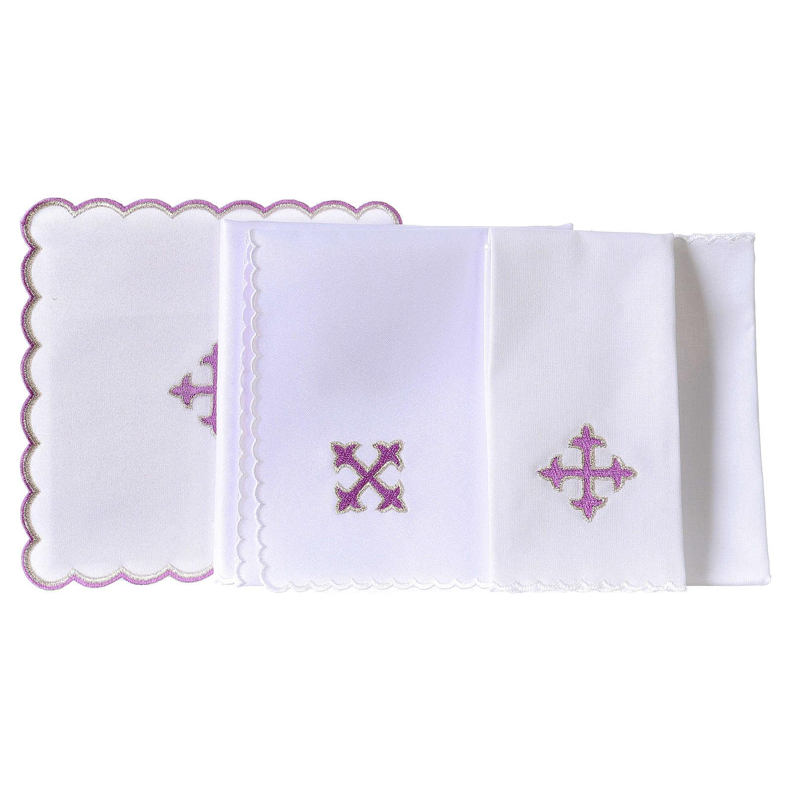 Kelchwäsche aus Baumwolle violetten Kreuz 4