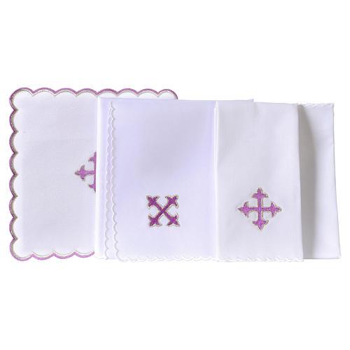 Kelchwäsche aus Baumwolle violetten Kreuz 3