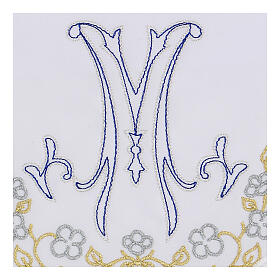 Set linge autel coton broderie bleue M mariale s2