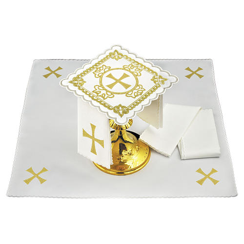 Church cloth with cross, golden embroideries 1