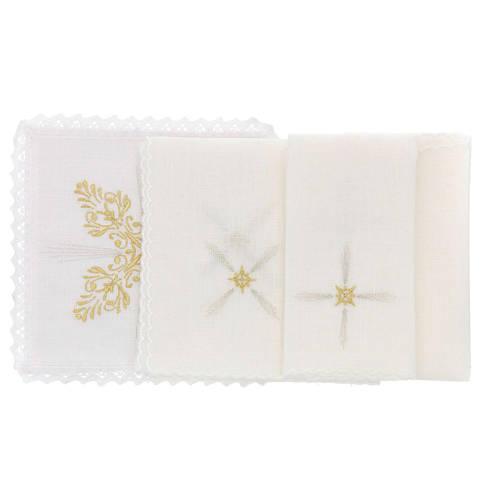 Bielizna kielichowa len dekoracje kwieciste styl barokowy 4
