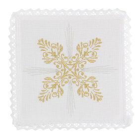 Bielizna kielichowa len dekoracje kwieciste styl barokowy s1