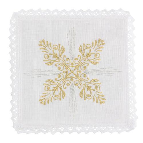 Bielizna kielichowa len dekoracje kwieciste styl barokowy 1