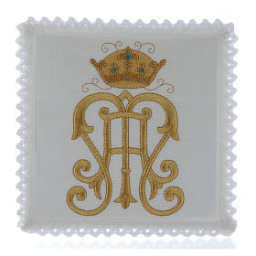 Altar cloth set gold JHS symbol with crown s1