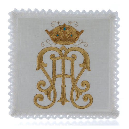 Altar cloth set gold JHS symbol with crown 1