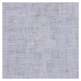 Amitto bianco puro lino con ricamo croce JHS bianco s2