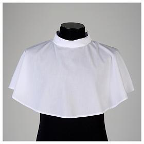 Amito blanco con cremallera hombro mixto algodón s2