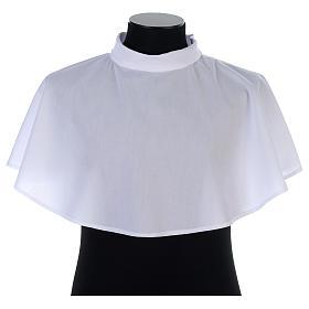 Aubes liturgiques et Surplis: Amict blanc avec tirette épaule en coton mixte
