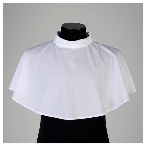 Amict blanc avec tirette épaule en coton mixte 2