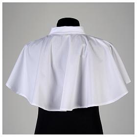 Amitto bianco con cerniera spalla in misto cotone s3