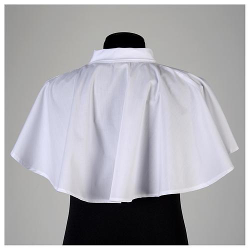 Amitto bianco con cerniera spalla in misto cotone 3