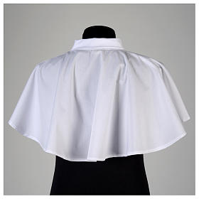 White amice in cotton blend with zip on shoulder s3