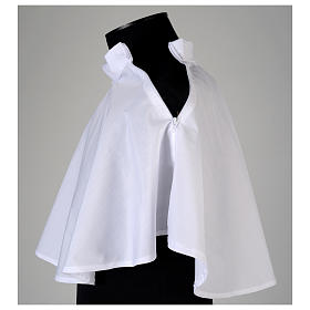 White amice in cotton blend with zip on shoulder s4