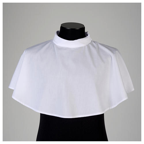 White amice in cotton blend with zip on shoulder 2