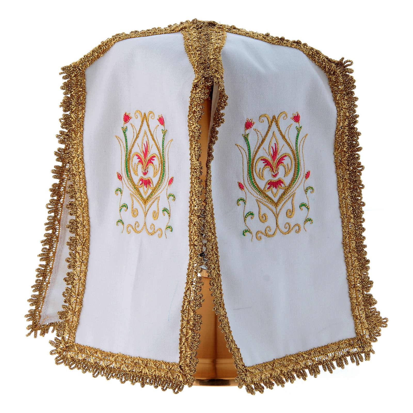 Ciborium Veil with cross in pure cotton 4